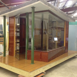 observation booth-floating room