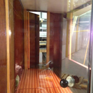 Observation booth interior